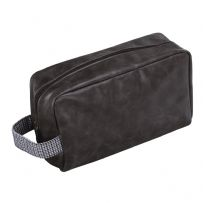 Jacob Jones 73340 Grey Washbag With Grey Checkered Cotton Strap